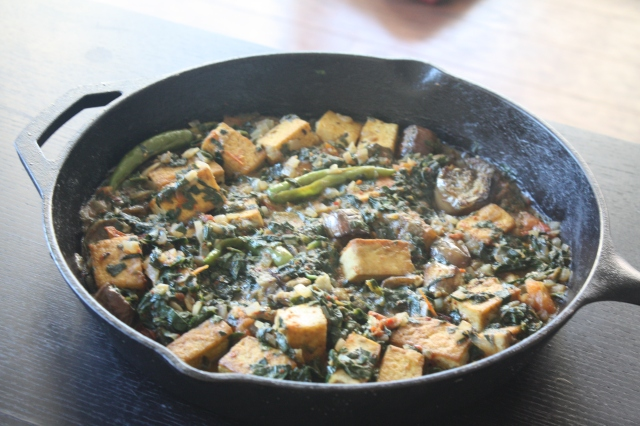 Vegan Tofu and Spinach Curry