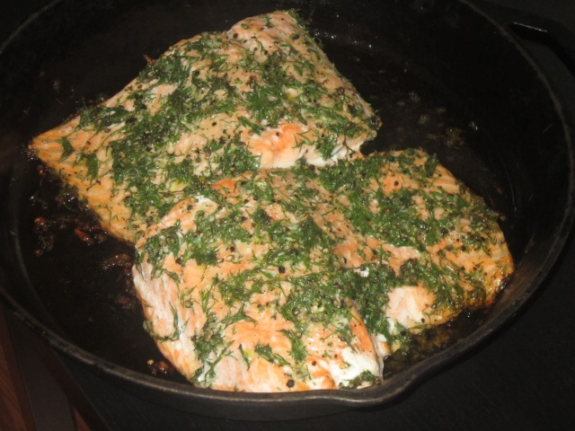 Atlantic Salmon Baked with Dill