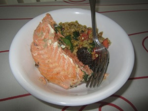 Salmon baked with Dill
