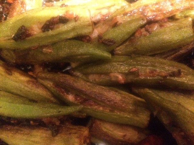 Stuffed Indian okra